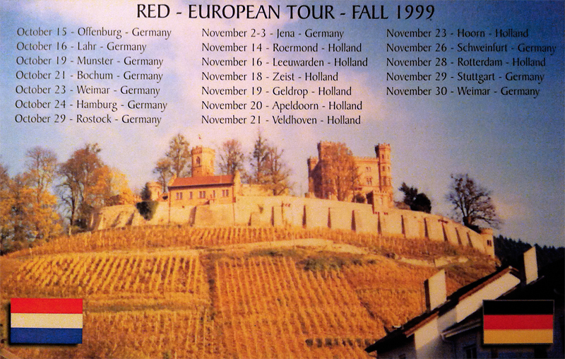 RED Tour Dates - Fall 1999