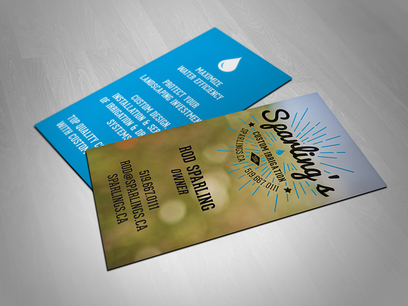 Sparling's Irrigation Business Cards | Cowbell Nation