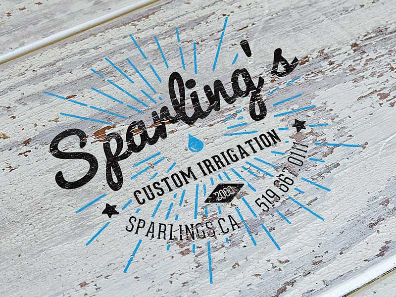Sparling's Irrigation Logo | Cowbell Nation
